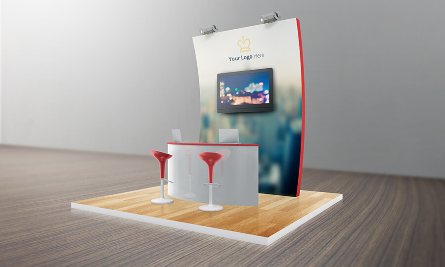 VARIOUS TRADESHOW EXHIBITION BOOTH MOCKUPS example image 9