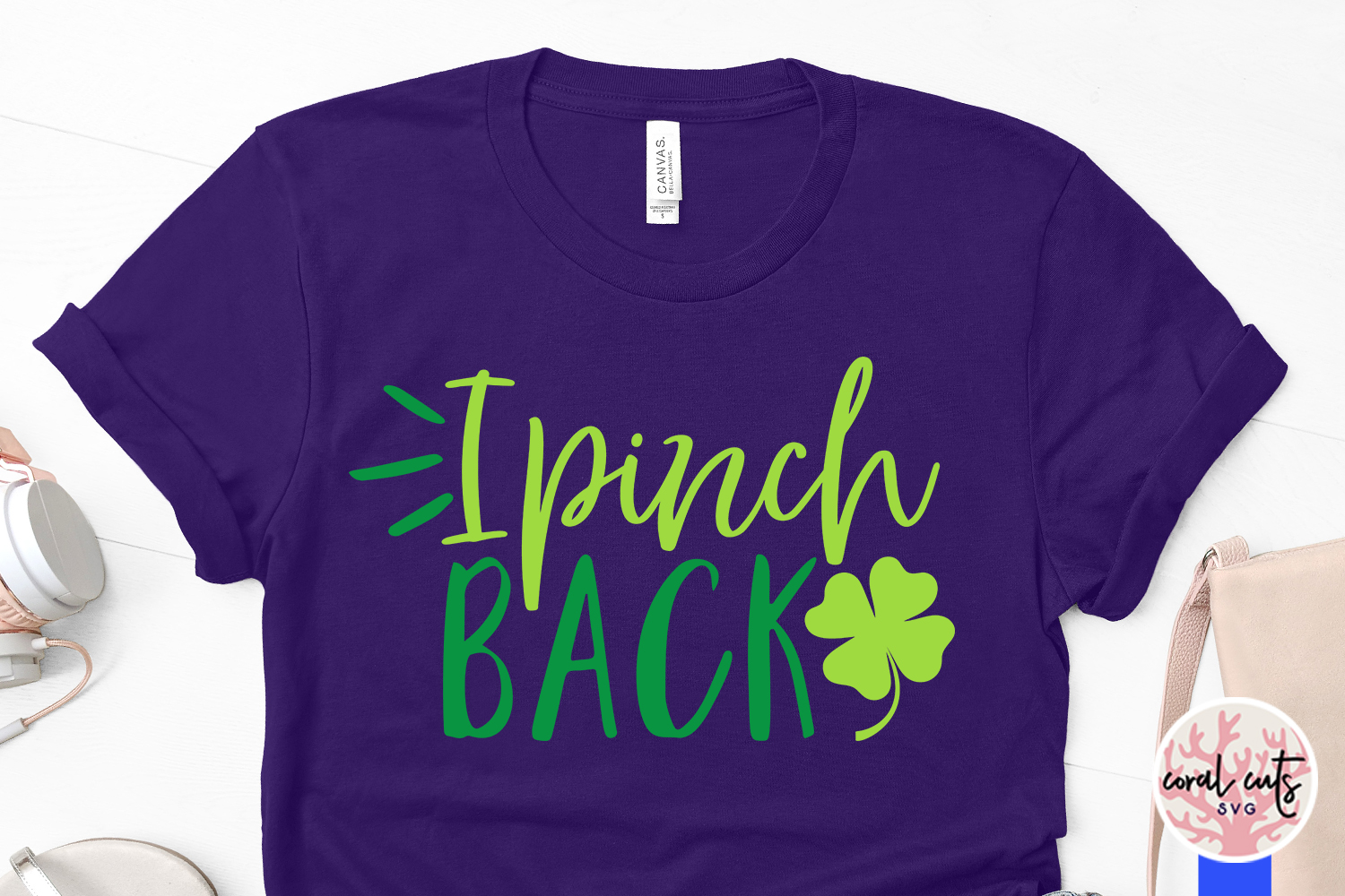 I pinch back - St. Patrick's Day SVG EPS DXF PNG example image 3