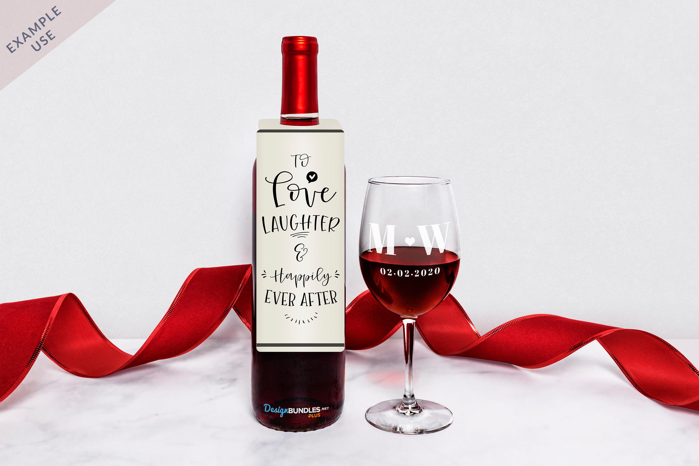 Wine Bottle Neck Tag & Wine Glass Mockup example image 2