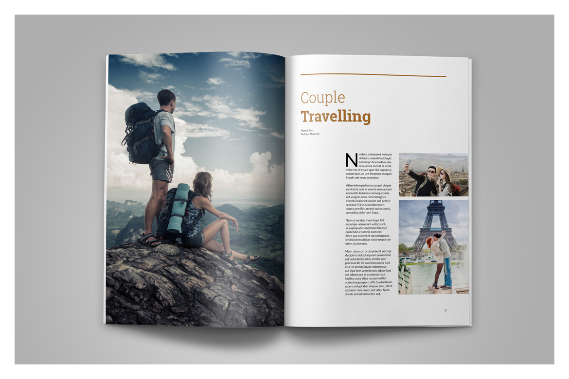 Indesign Magazine Template example image 6