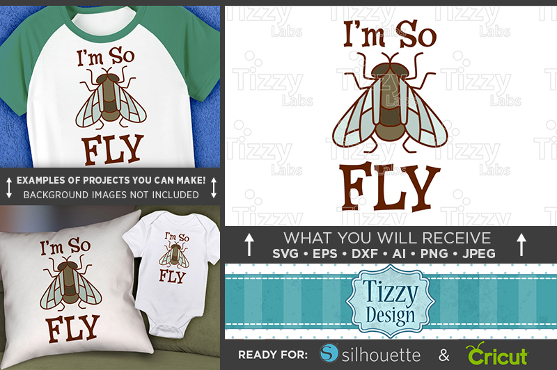 I'm So Fly Svg File - Cute Kids Shirt Svg - 1089 example image 1