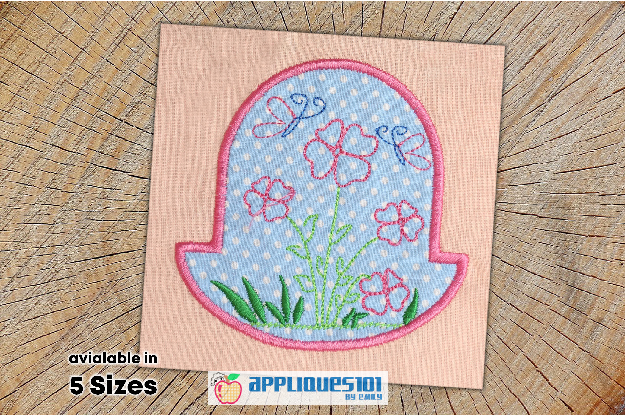 Spring Flowers Machine Embroidery Applique Design - Flowers example image 1