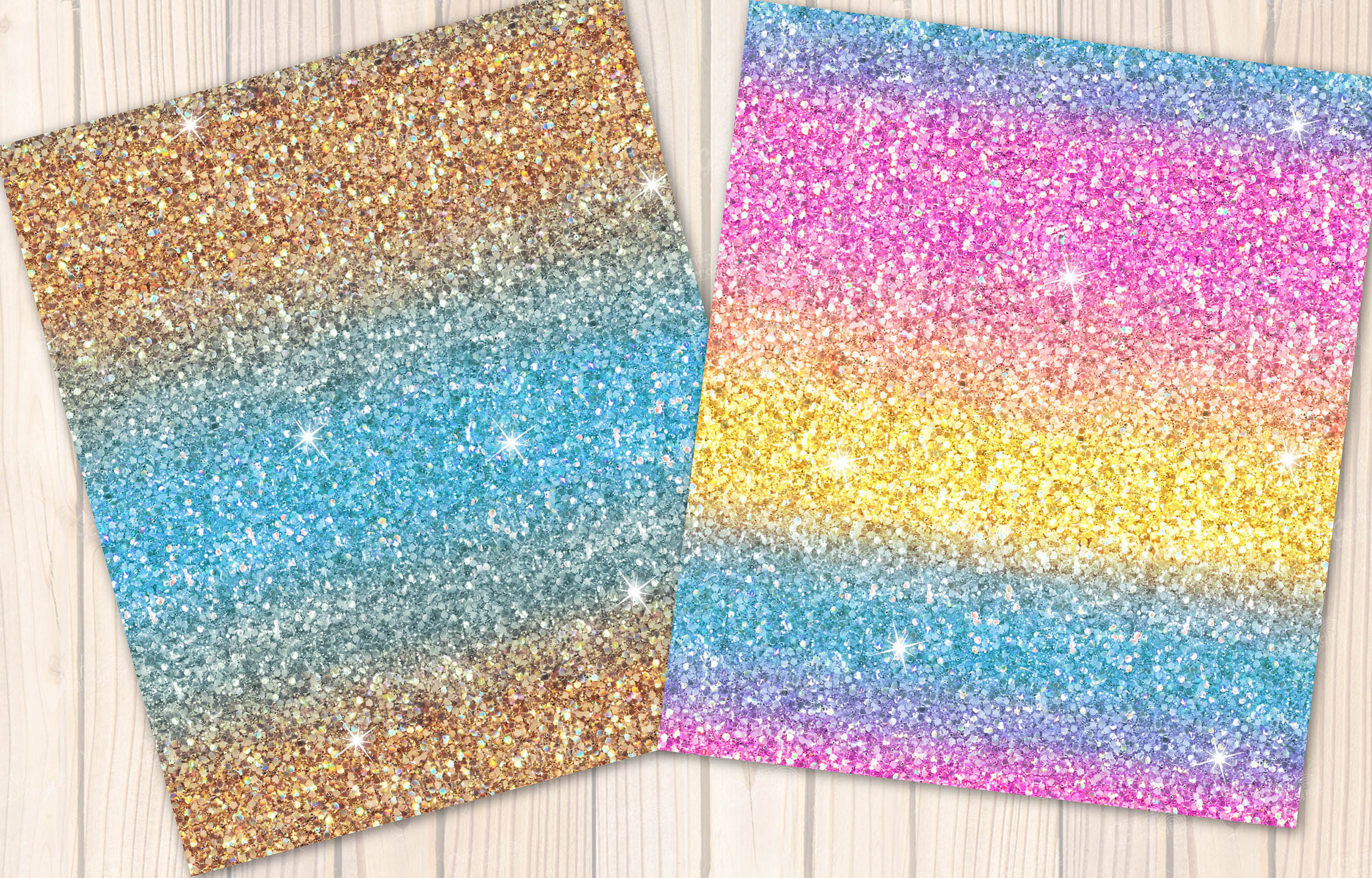 Mermaid seamless Glitter backgrounds example image 6