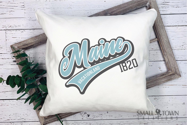 Maine, Vacationland - slogan, Logo, PRINT, CUT & DESIGN example image 3