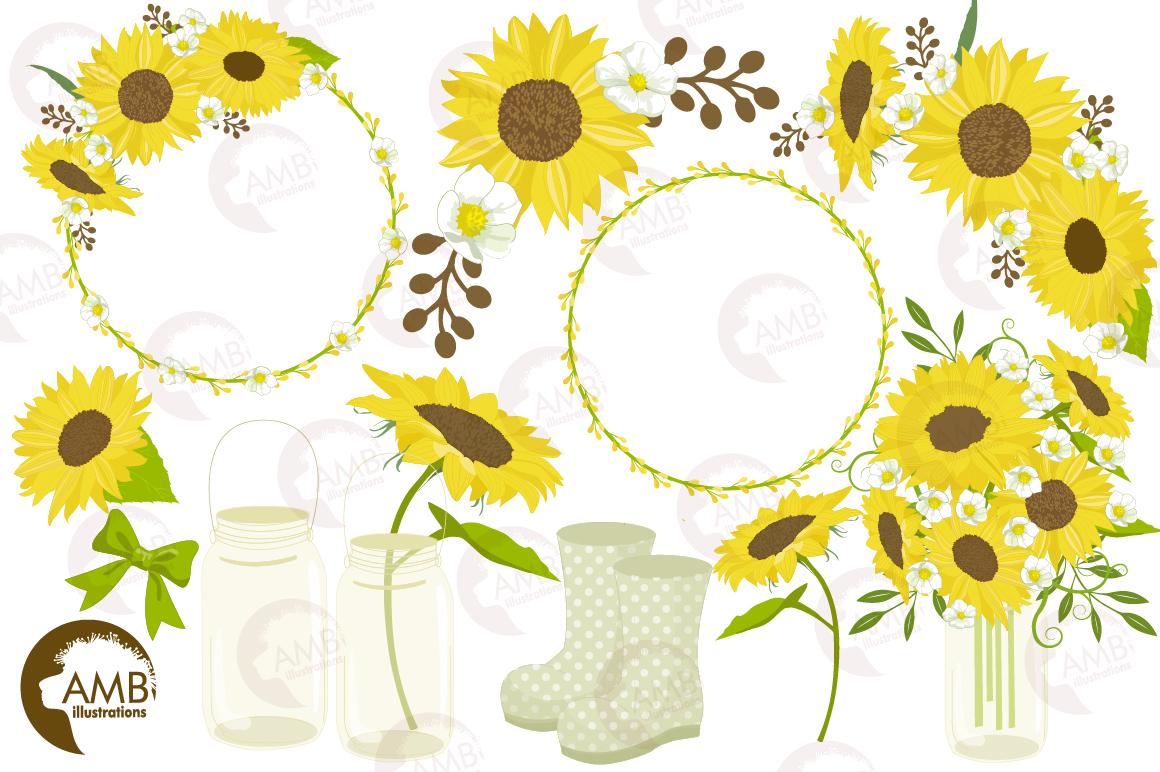 Sunflower clipart, graphics, illustrations AMB-1416 (55525 ...