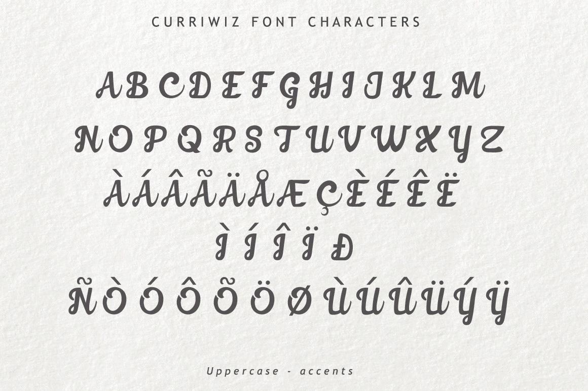 Curriwiz Font example image 4