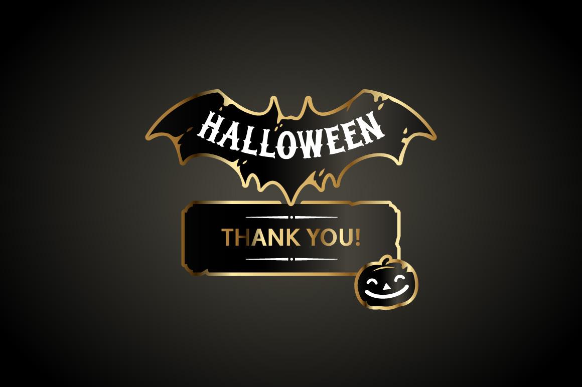 Halloween Design Golden Labels Set example image 4