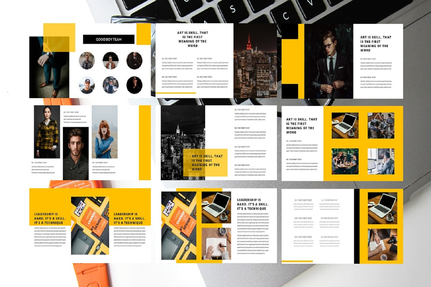 business template google slides example image 3