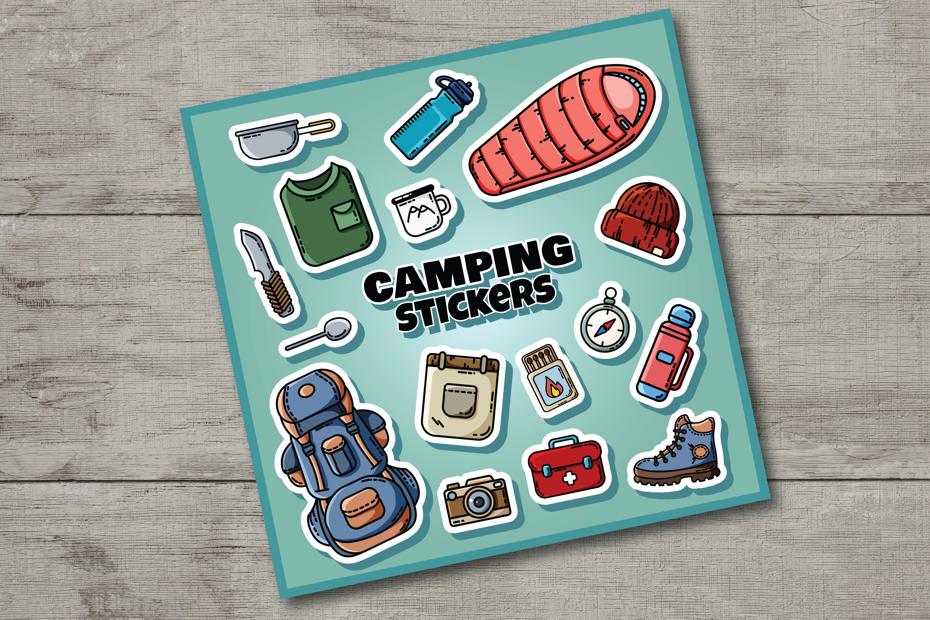 Let's Go Camping Icons Set example image 6