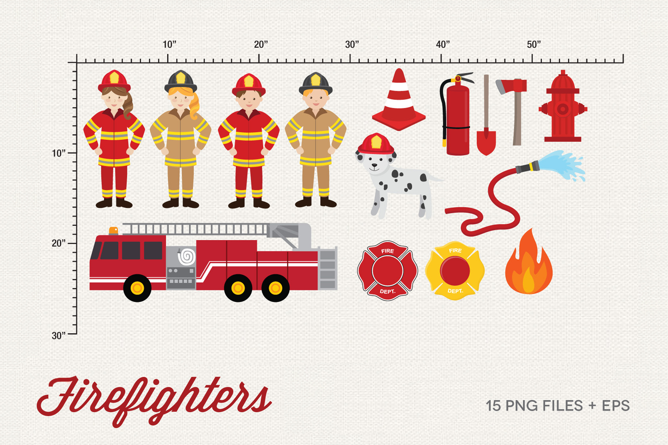 Firefighters Clipart example image 2