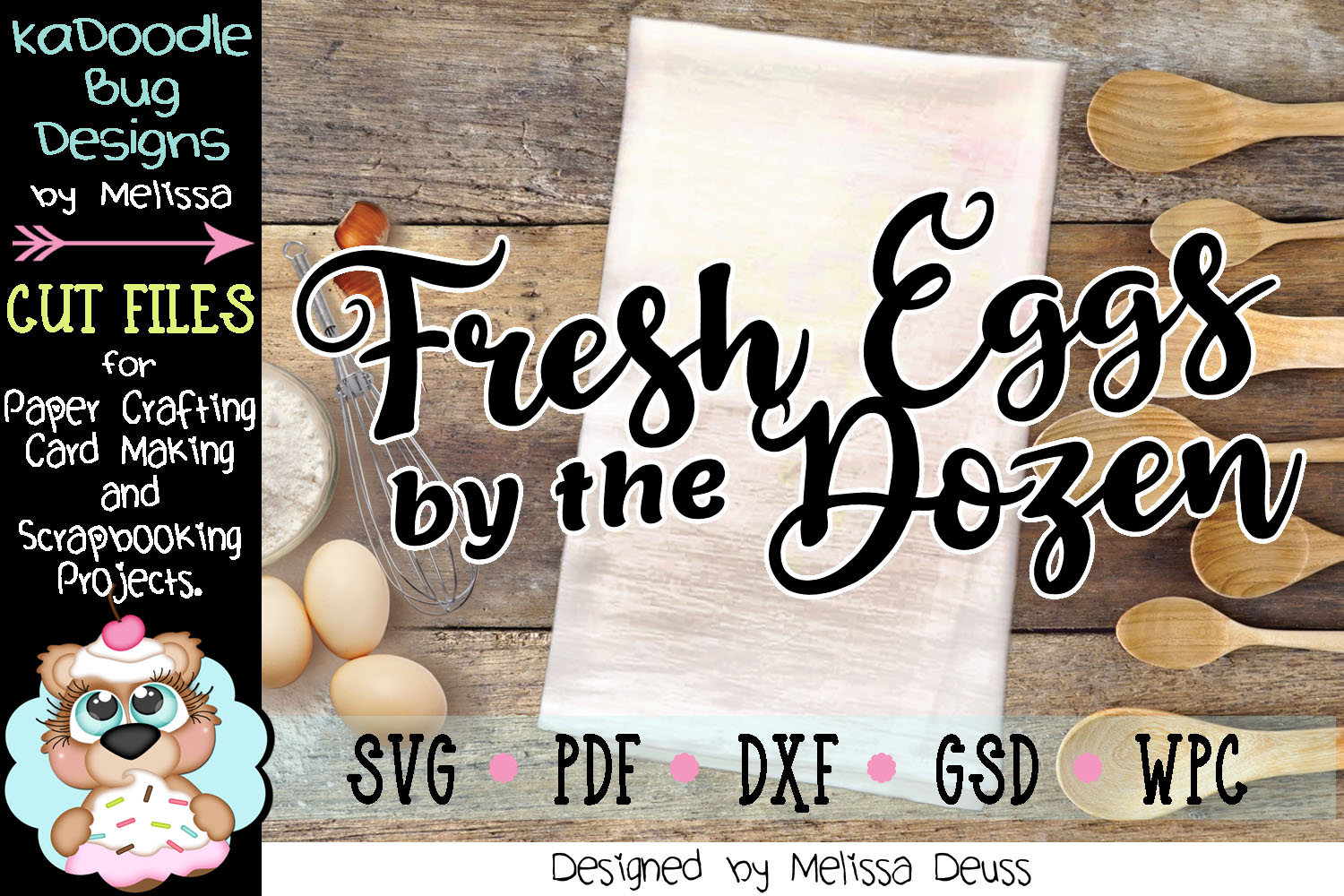 Fresh Eggs by the Dozen Cut File - SVG PDF DXF GSD WPC example image 3