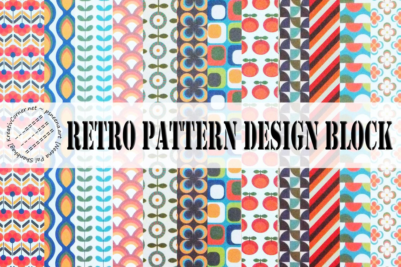 Retro Pattern Design Blocks example image 1