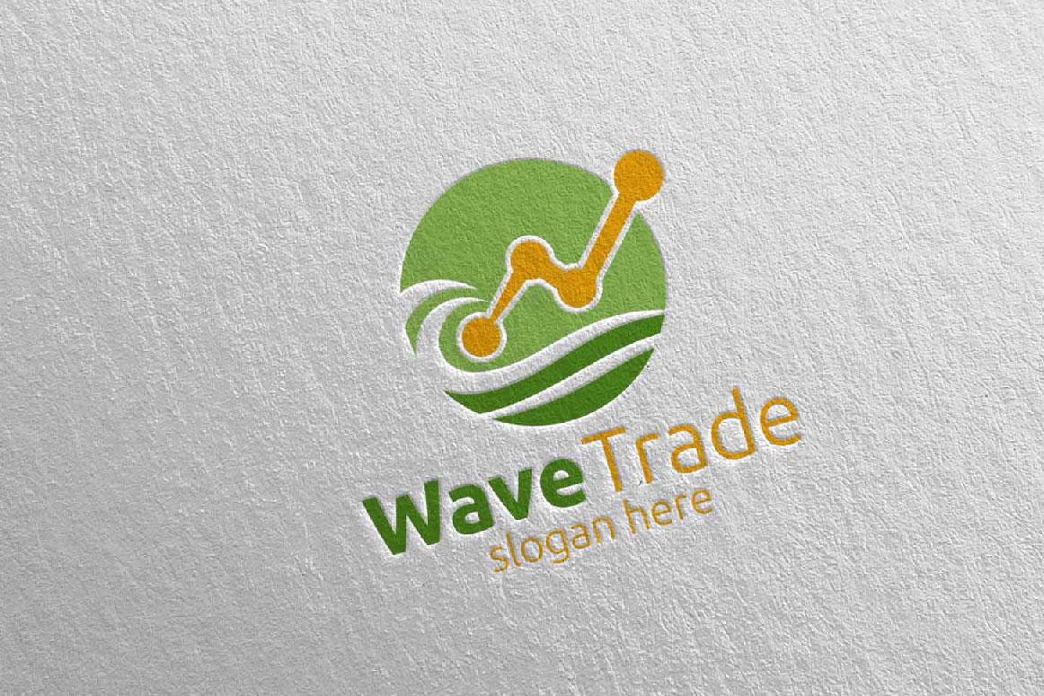 Wave Trade Marketing Financial Advisor Logo Design 26 example image 2