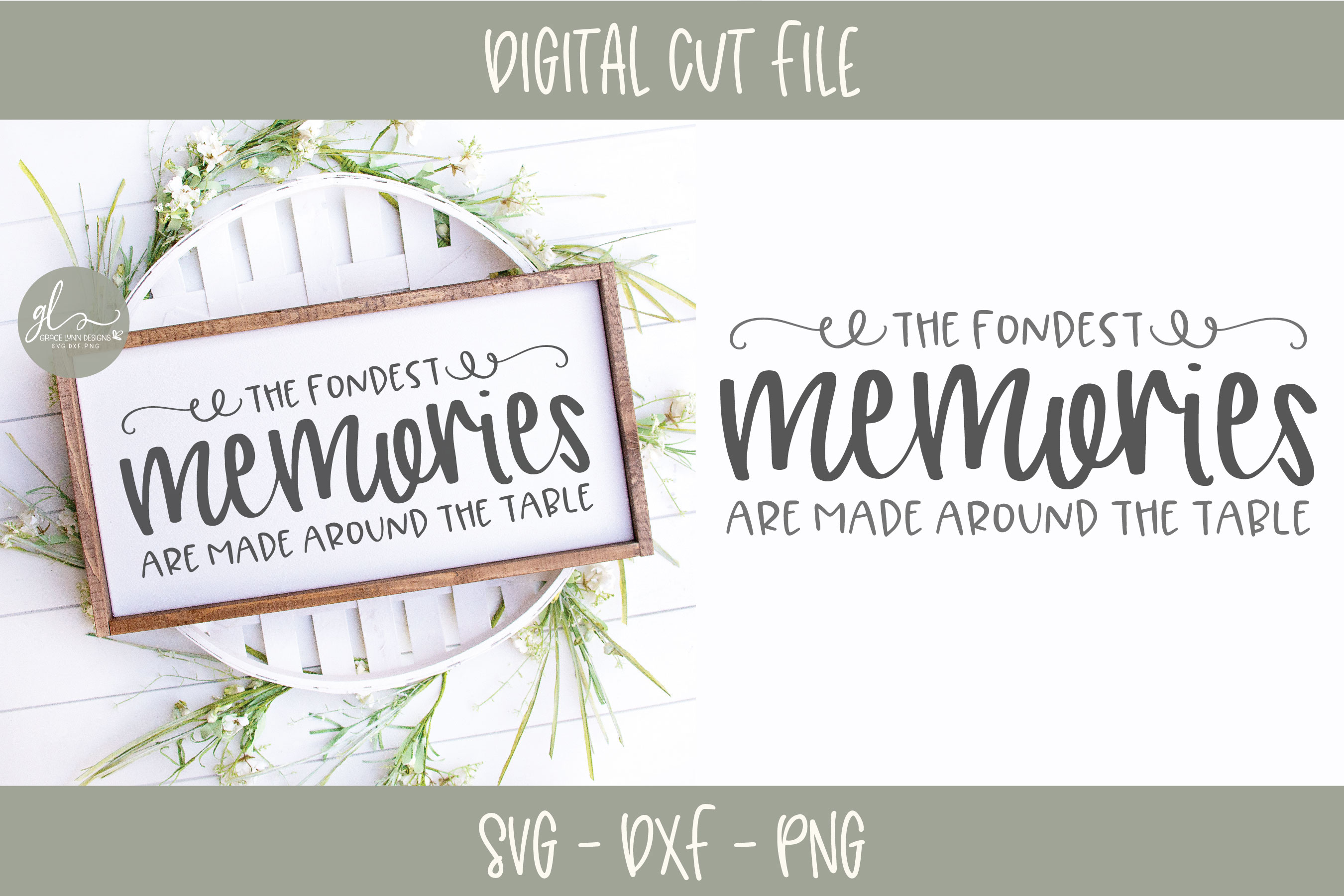The Fondest Memories Are Made Around The Table - SVG example image 1