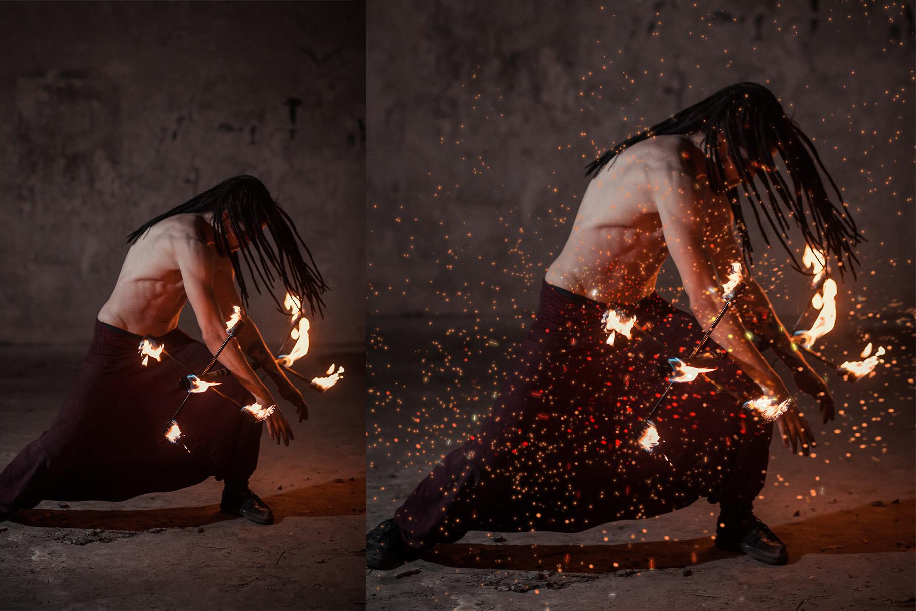 Sparks Photoshop Brushes example image 4