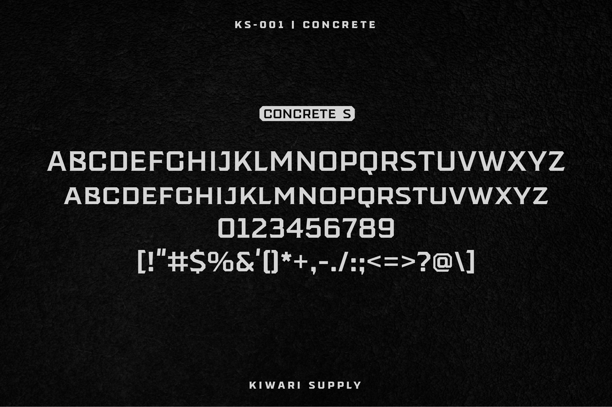 Concrete Display Font Family example image 3