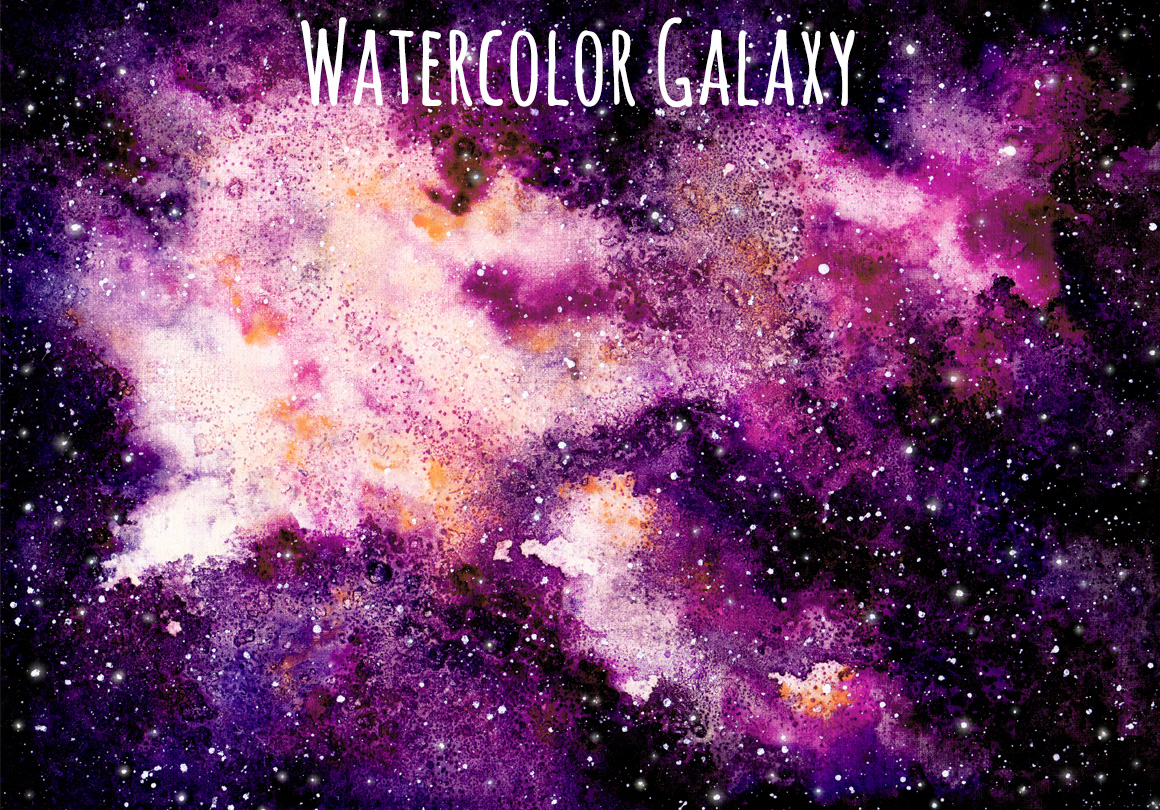 watercolour galaxy set by salted galaxy design bundles