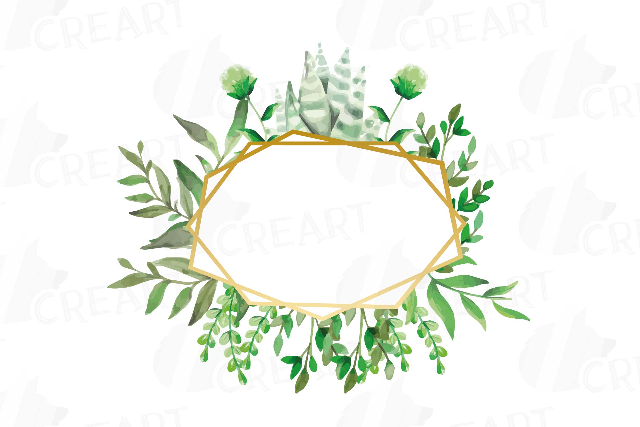 image regarding Printable Border referred to as Watercolor floral wild leaves frames, printable borders