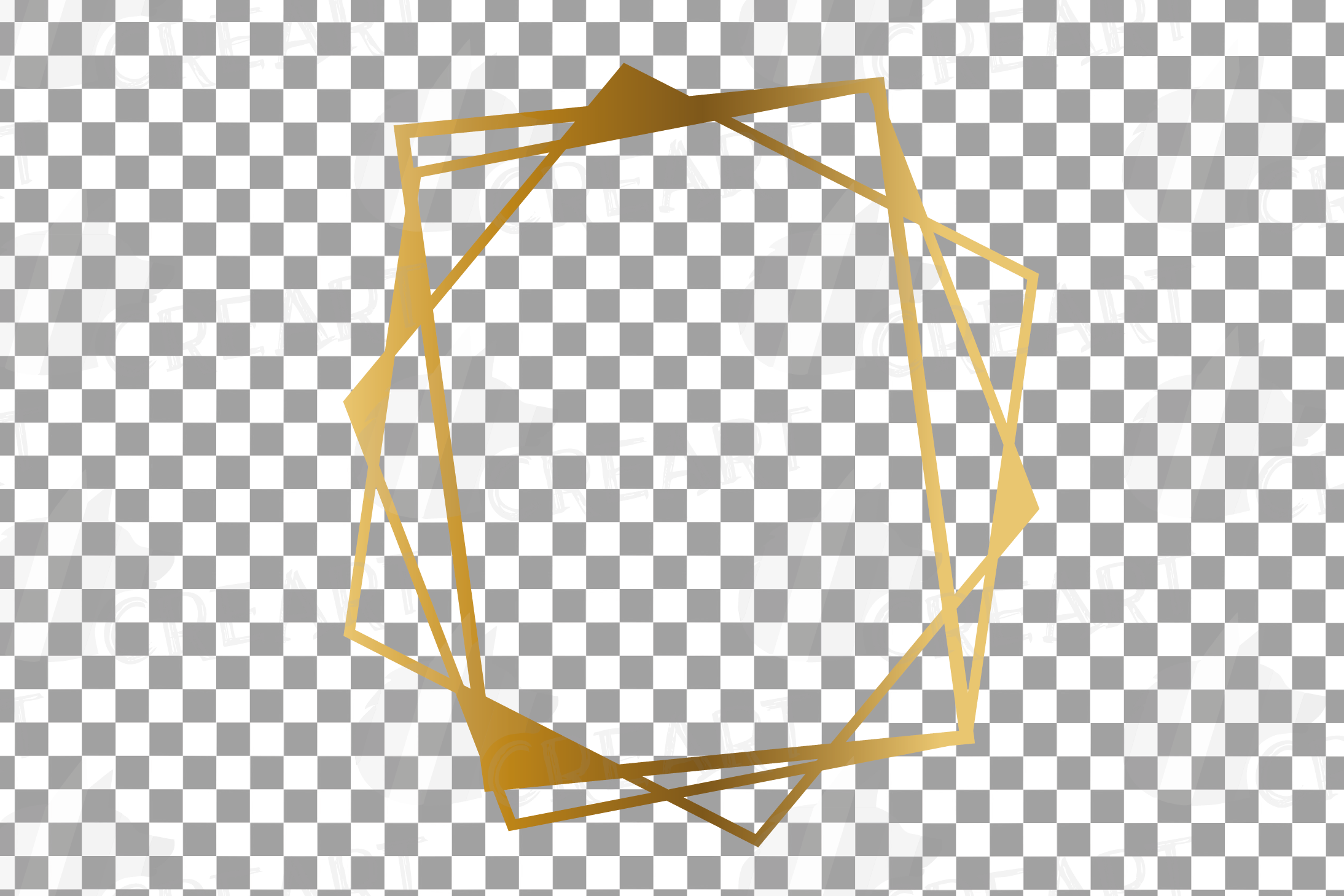 Chaotic geometric golden frames, lineal frames clip art example image 13