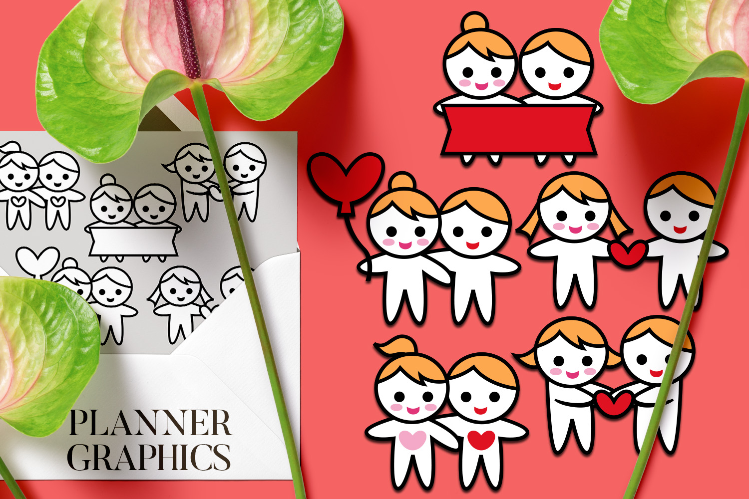 Holidays Bundle - Planner Graphic Illustrations example image 13