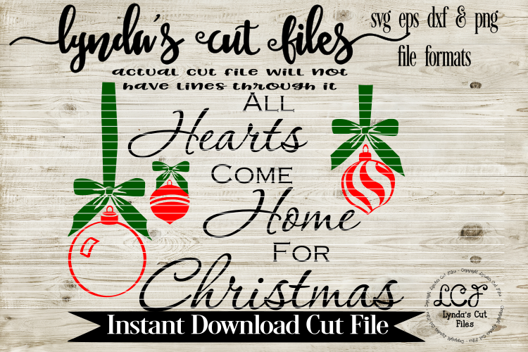 All Heart Come Home for Christmas//Christmas//SVG//EPS//DXF example image 1