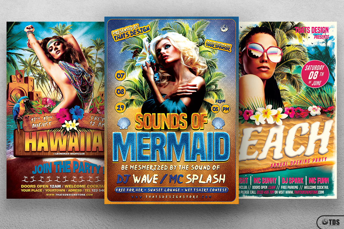 Beach Party Flyer Bundle V2 example image 2