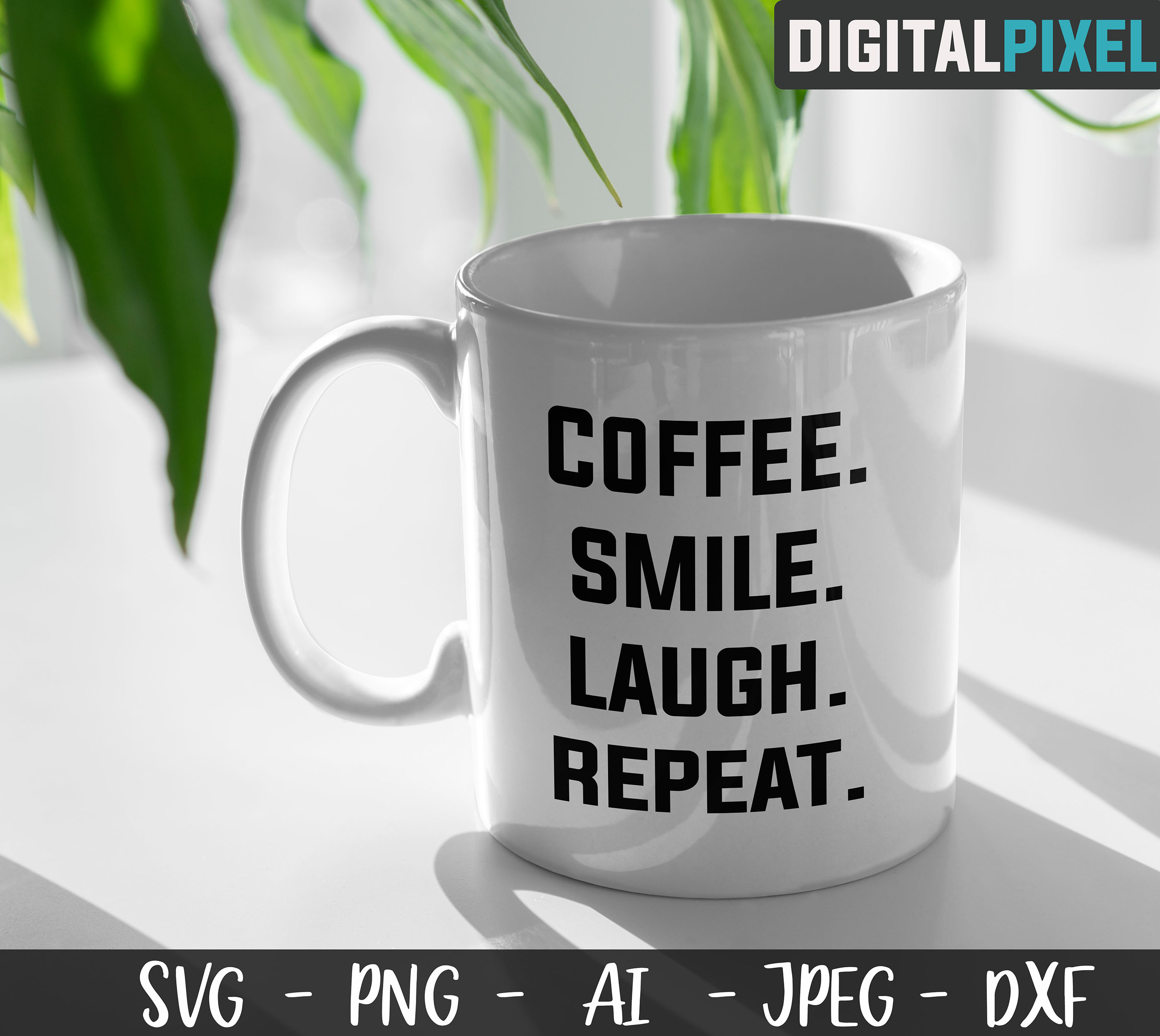 Coffee Bundle SVG PNG JPEG DXF Circut Cut Coffee Crafters example image 3