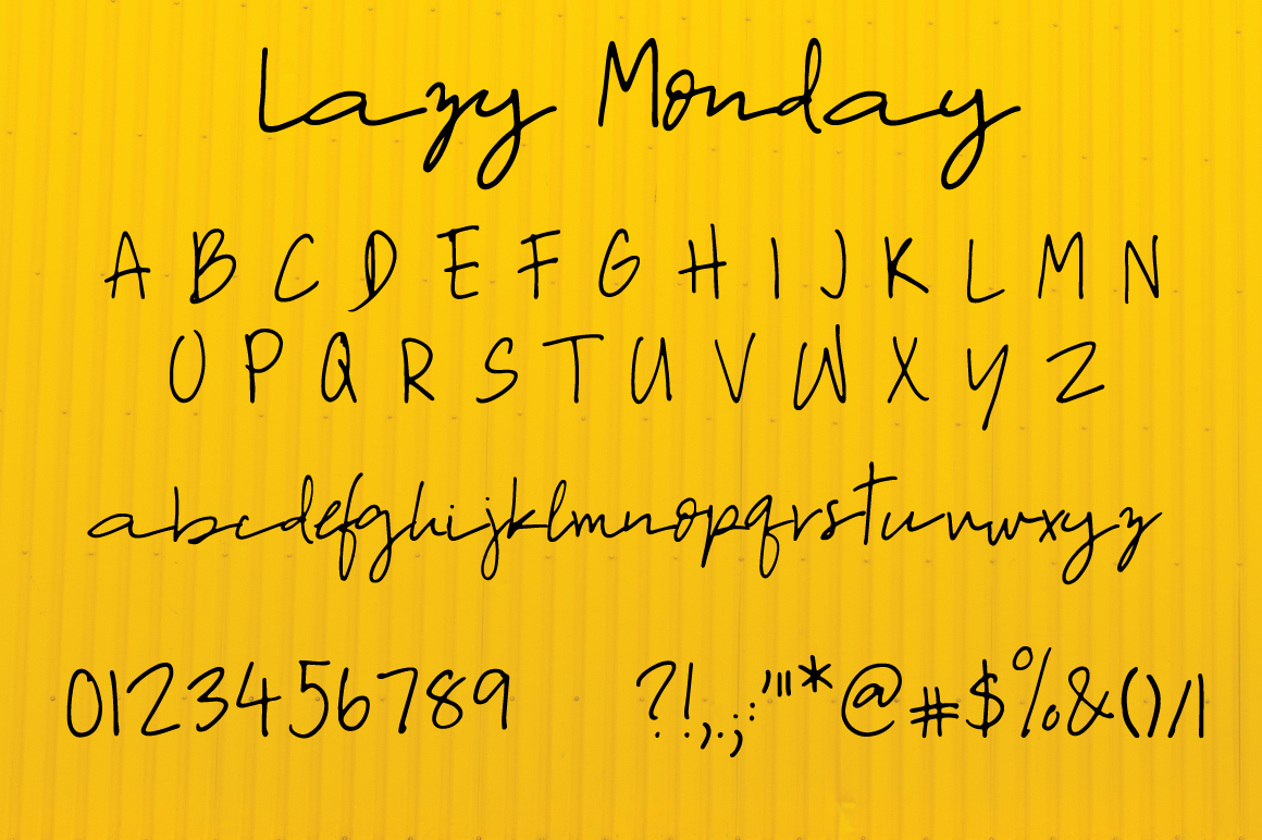 Lazy Monday | Script Font example image 7