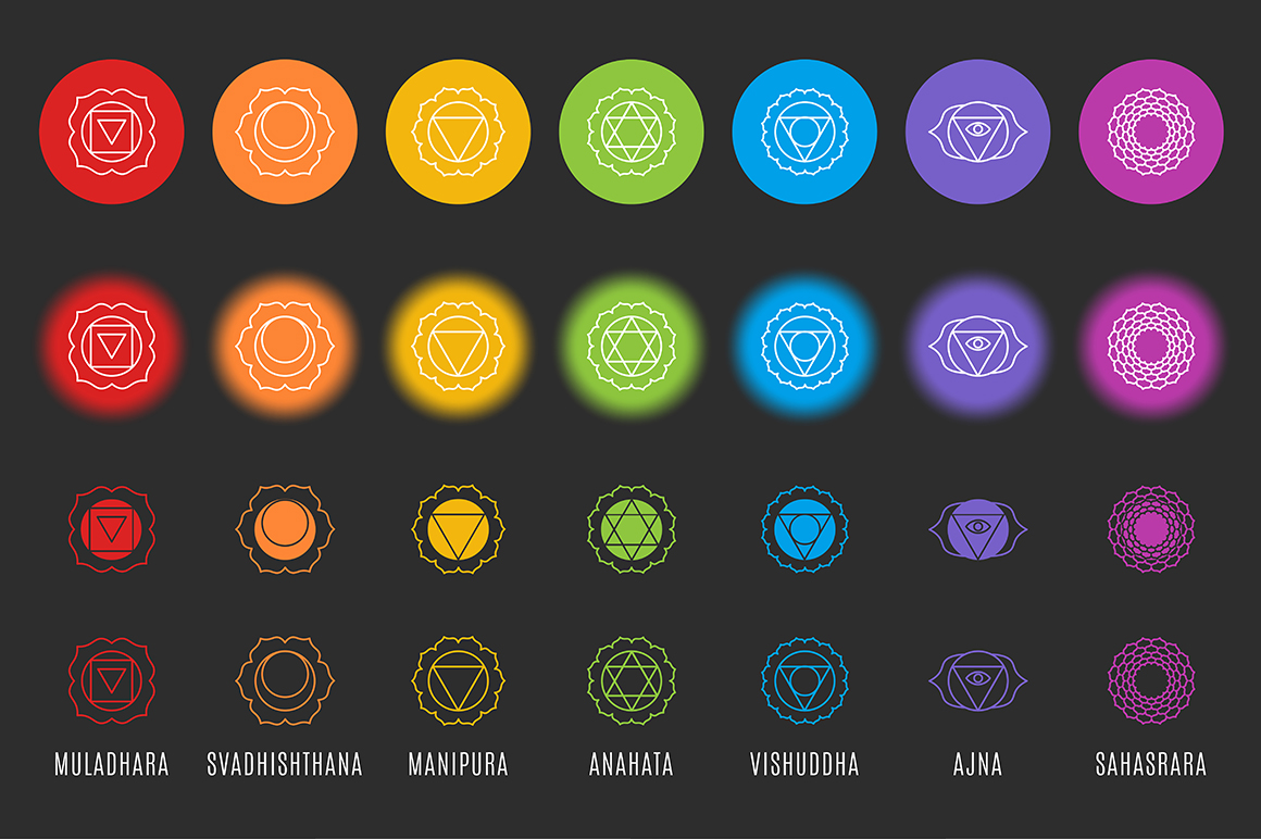 Chakra Symbols and Patterns Vector example image 3