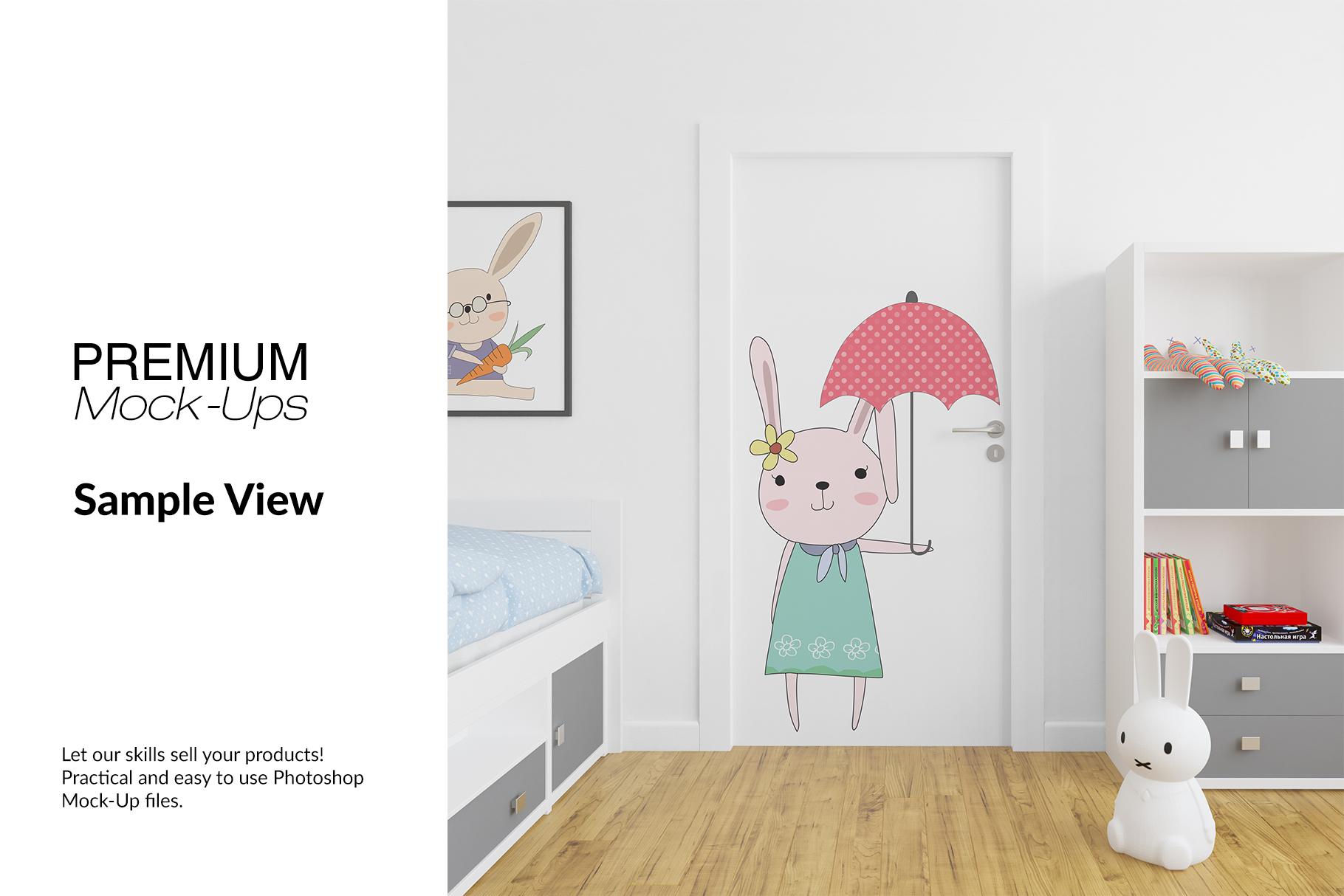 Door Murals in Nursery Set example image 11