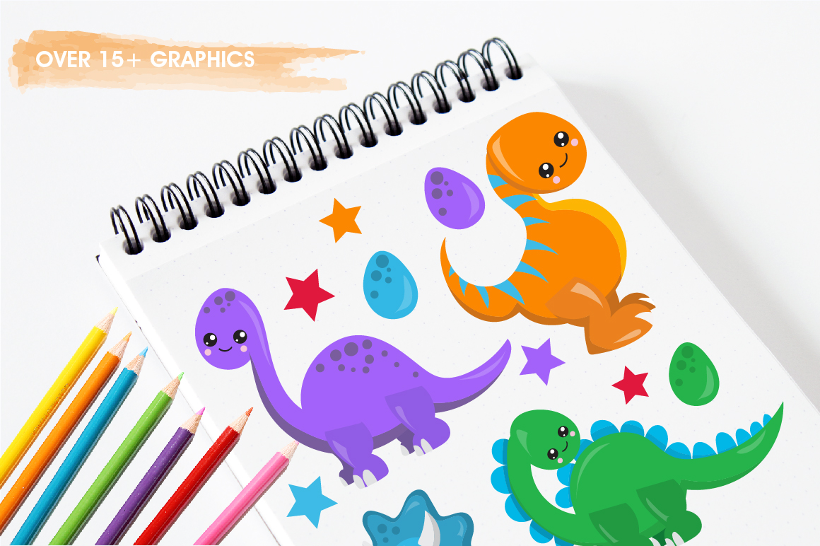 Party Dinosaurs graphics and illustrations example image 3