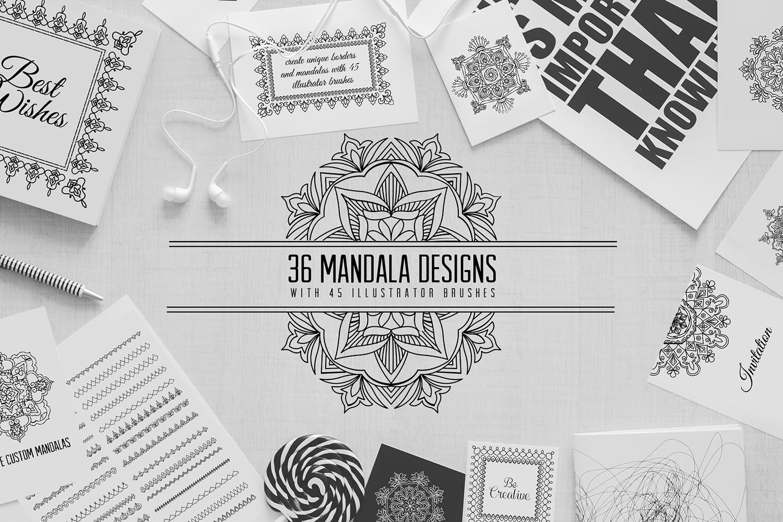 36 mandala designs-45 pattern brushes example image 1