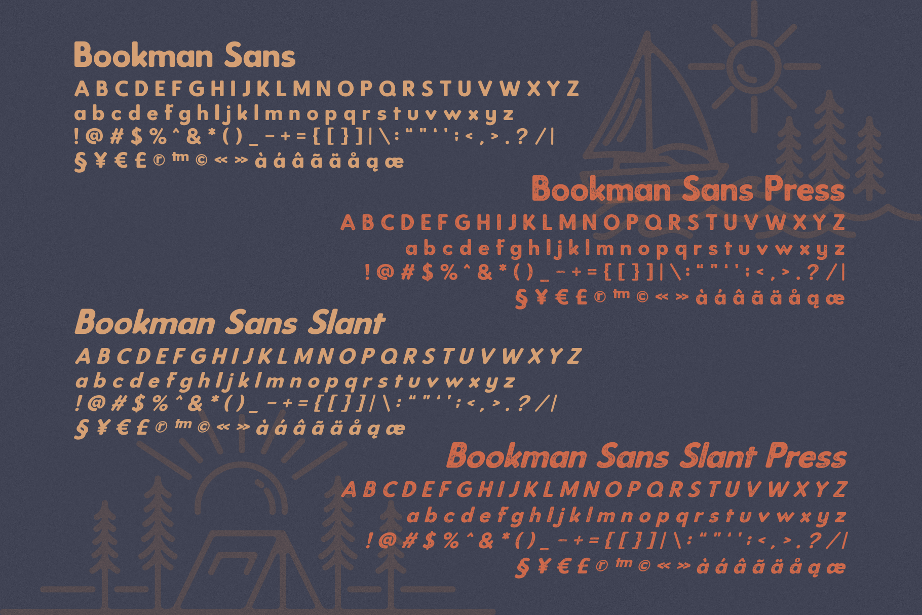 Bookman Font Collection example image 9