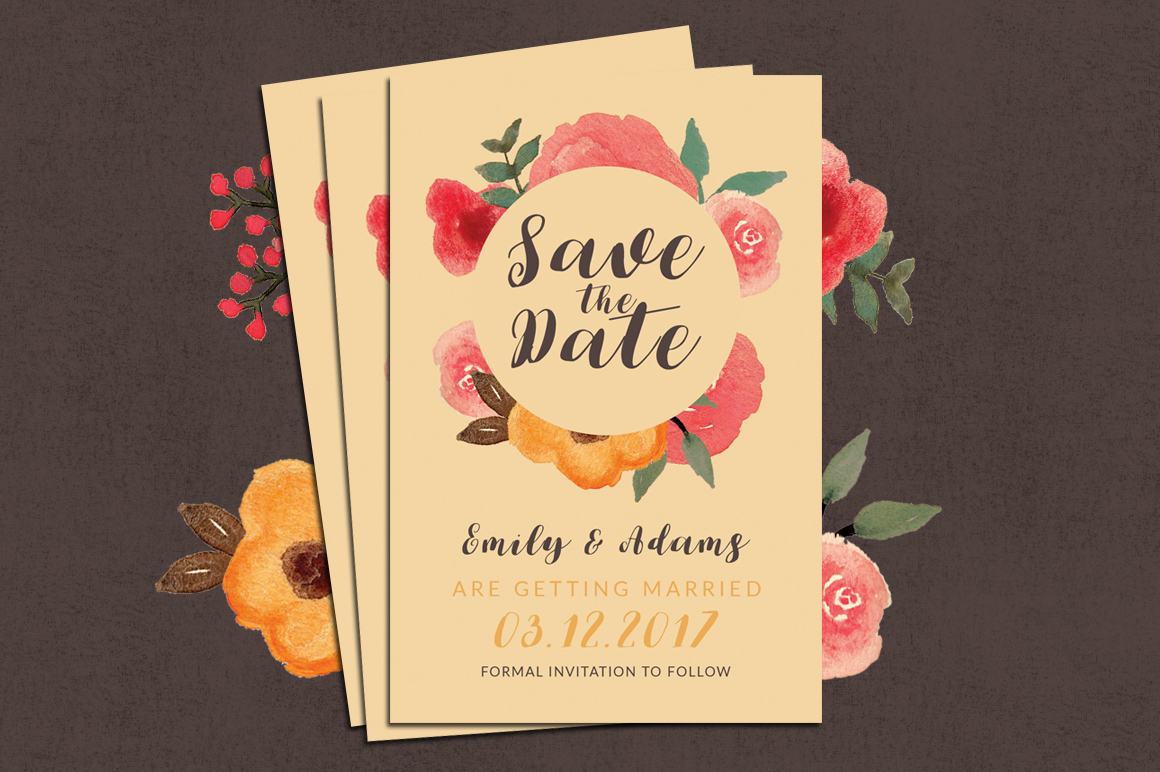 33% Off! Tropical Wedding Invitation Suite example image 4