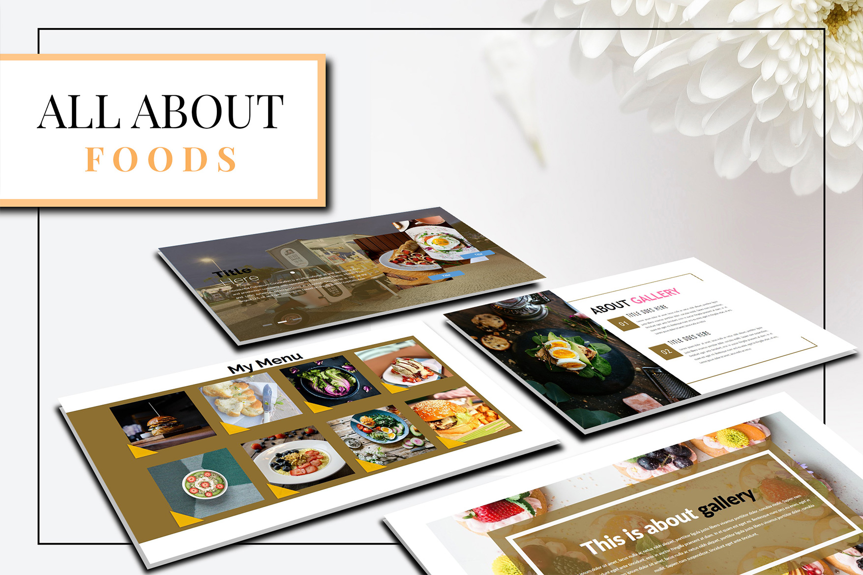 Delicious Food - Powerpoint Template example image 6