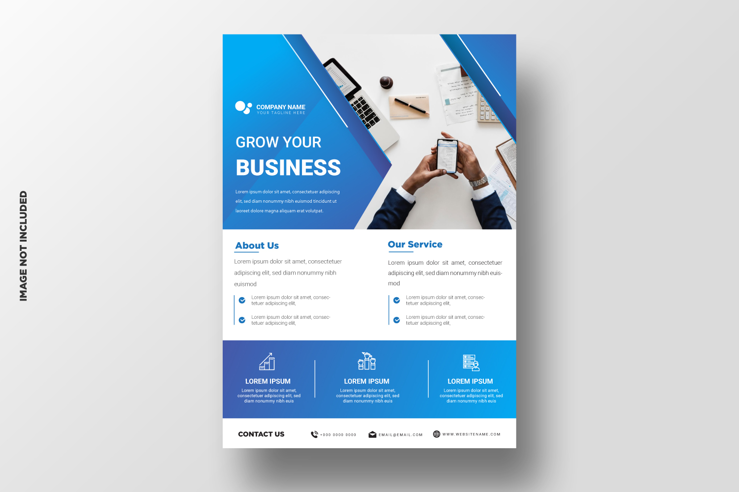 Business Flyer Template. Vol-09 example image 1