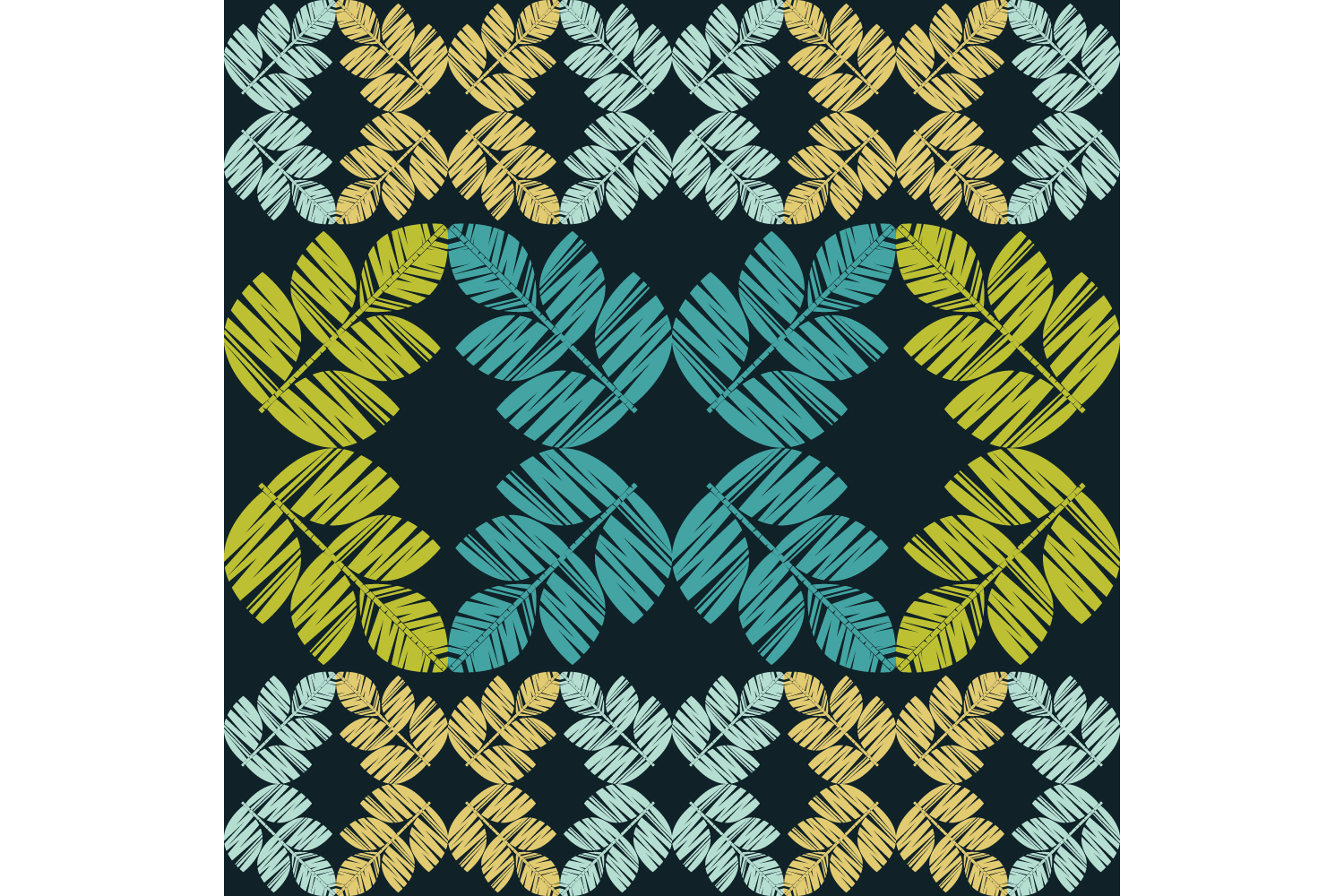 Decorative leaves. Set of 10 seamless patterns. example image 5