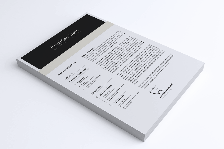 Minimalist CV / Resume Template Vol. 05 example image 2