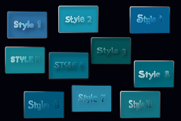 10 Glass Transparent Adobe Illustrator Graphic Styles example image 5