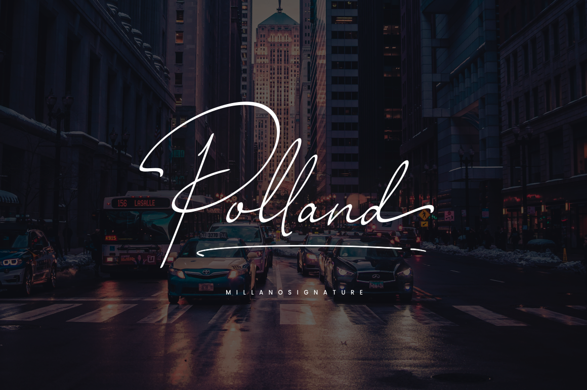 Millano // Signature Font example image 4