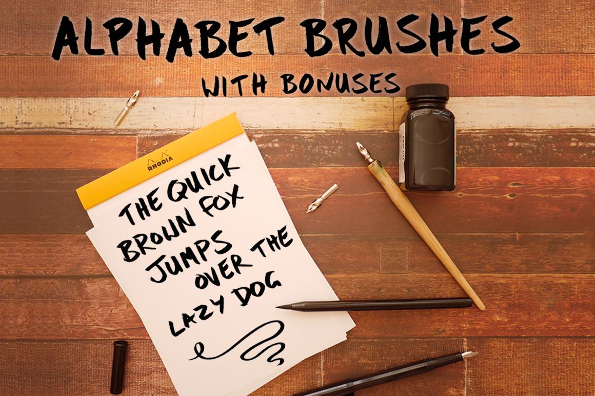 Bold Brush Photoshop Alphabet Set example image 1