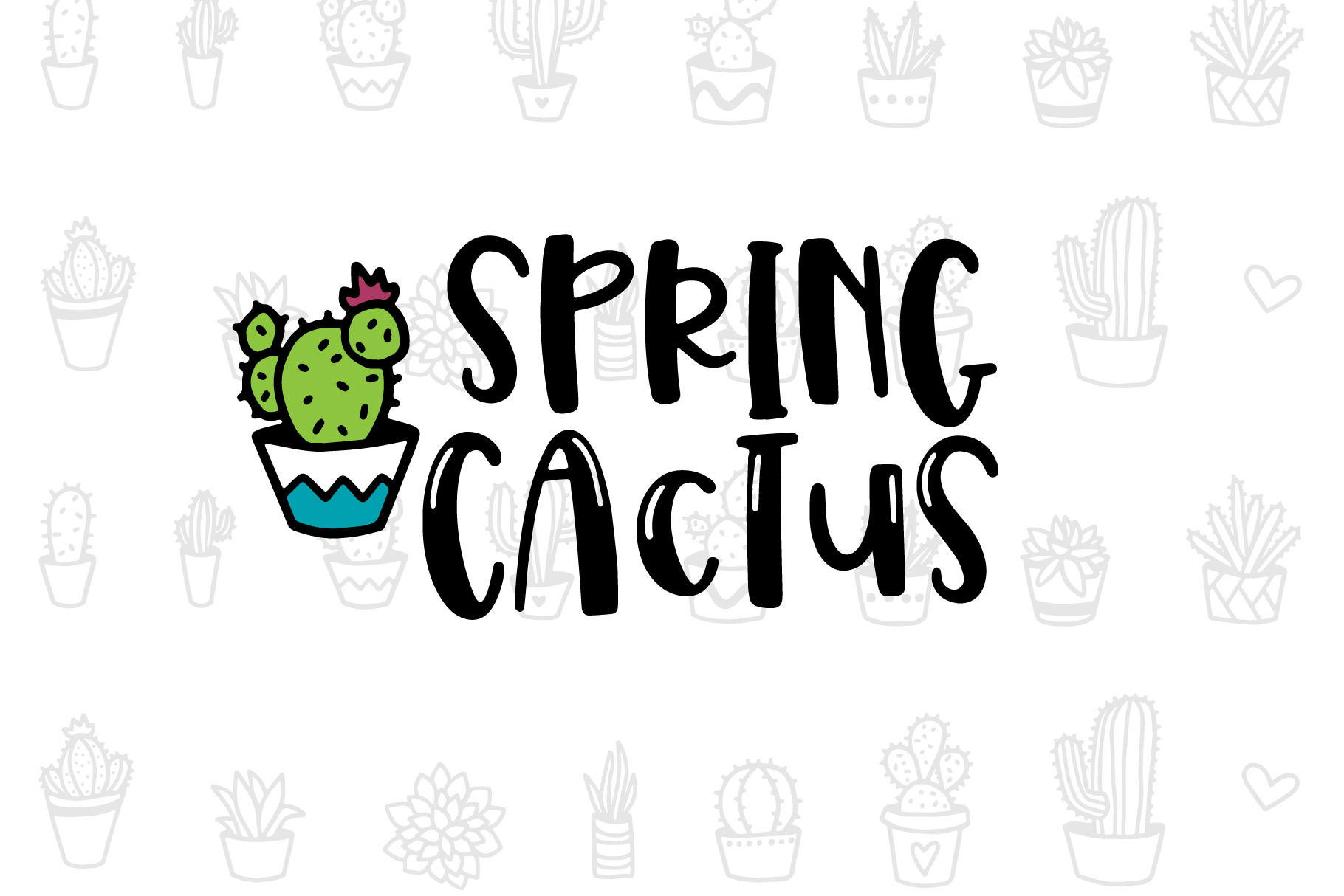 Spring Cactus example image 1