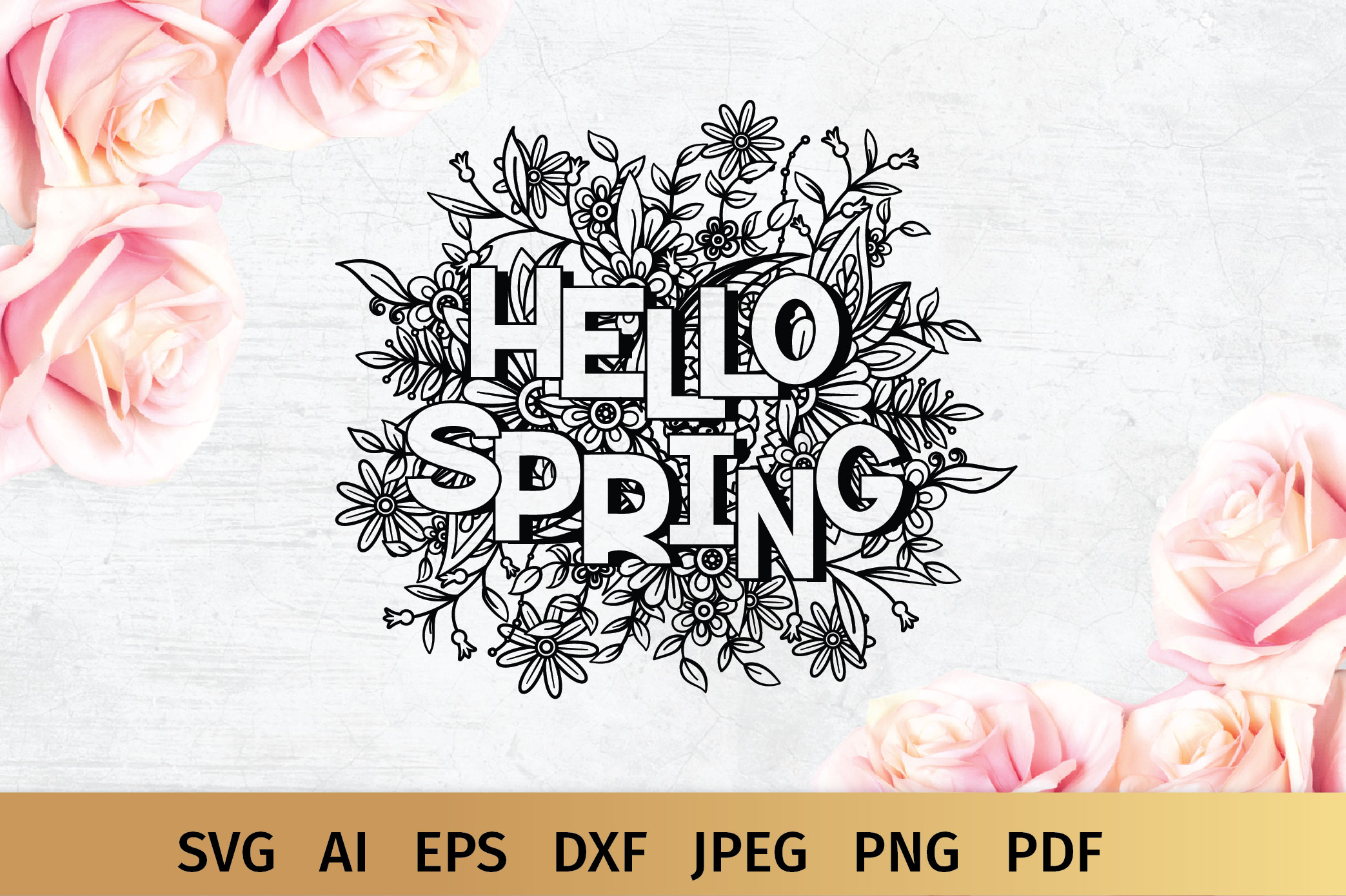 Hello Spring SVG example image 2