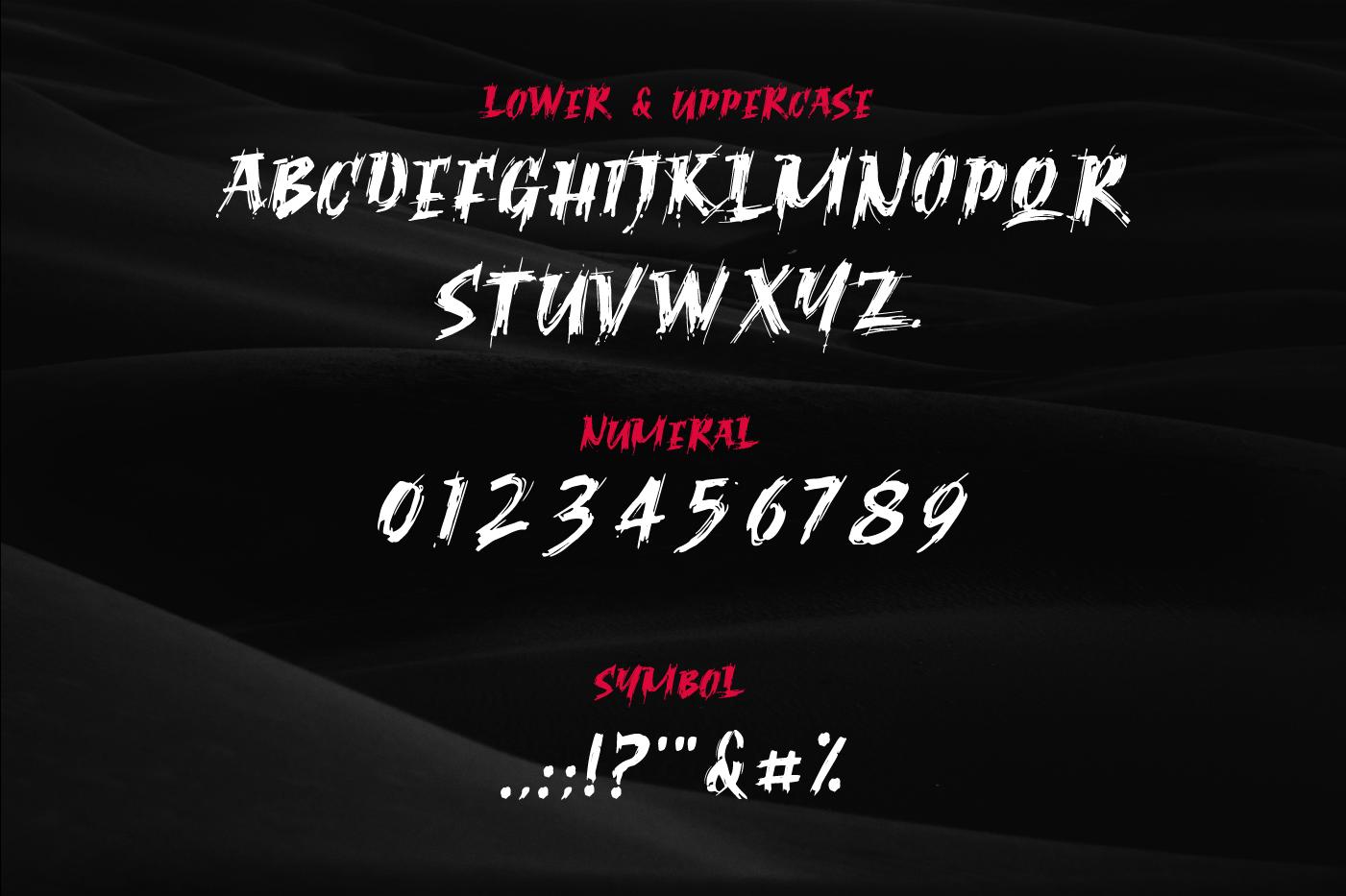 Ragnar Brush Font example image 2