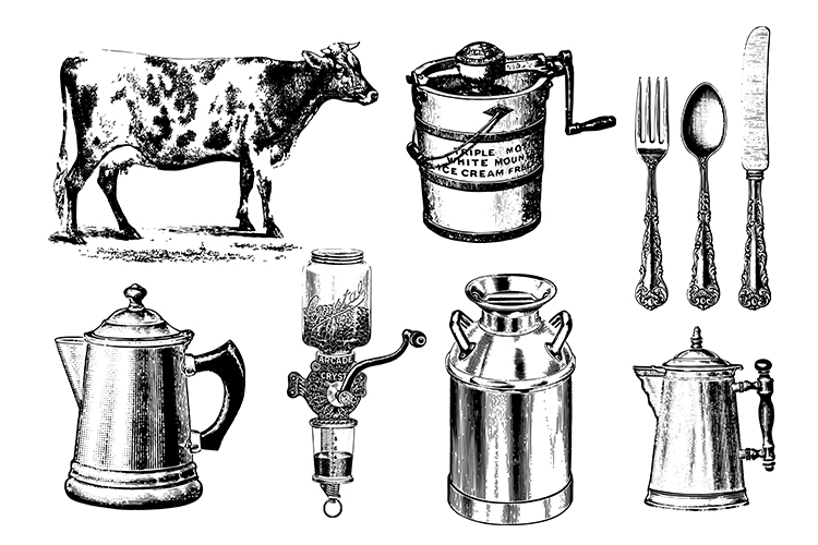 Farmhouse Farm Kitchen Vintage Bundle PNG, EPS, SVG Vector example image 2