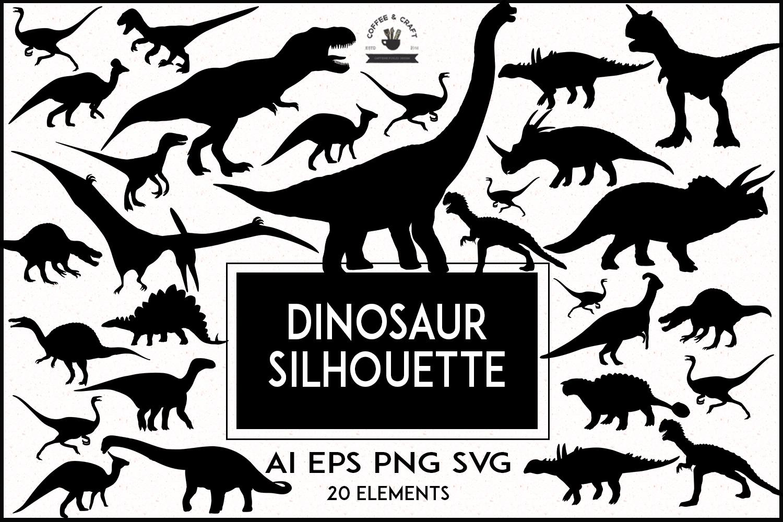 Dinosaur Silhouette set example image 1