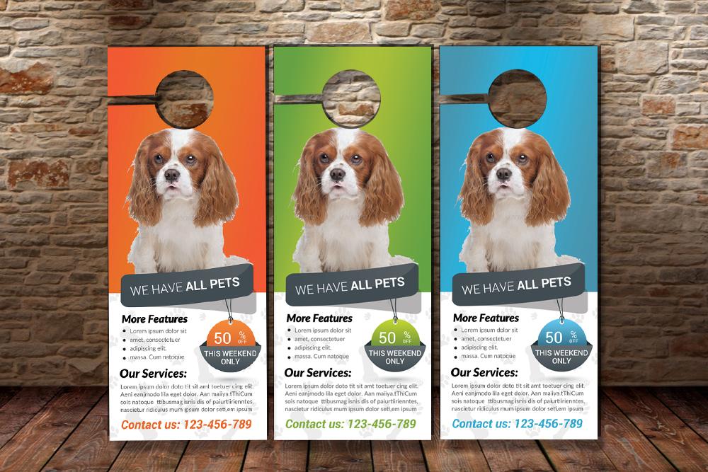 Pet Shop & Care Centre Door Hanger  example image 3