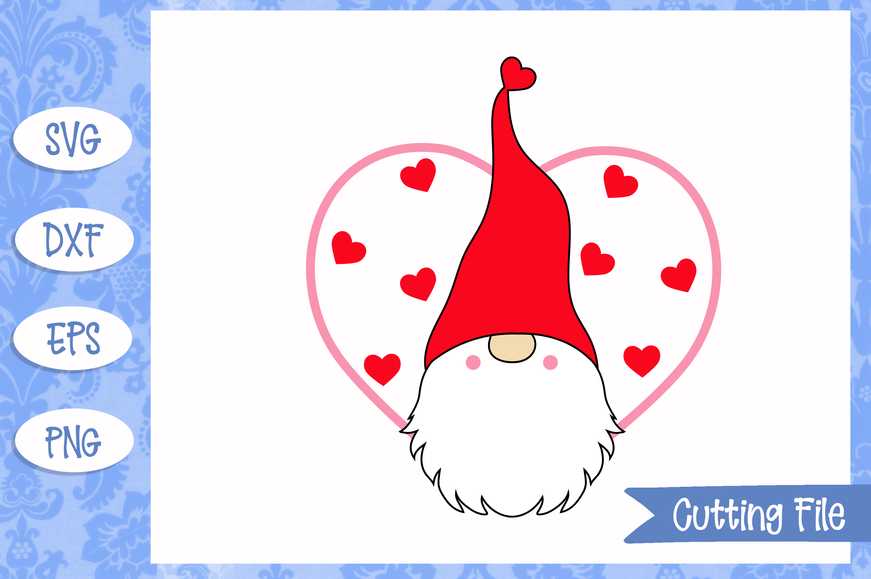 Valentine Gnome SVG File example image 1
