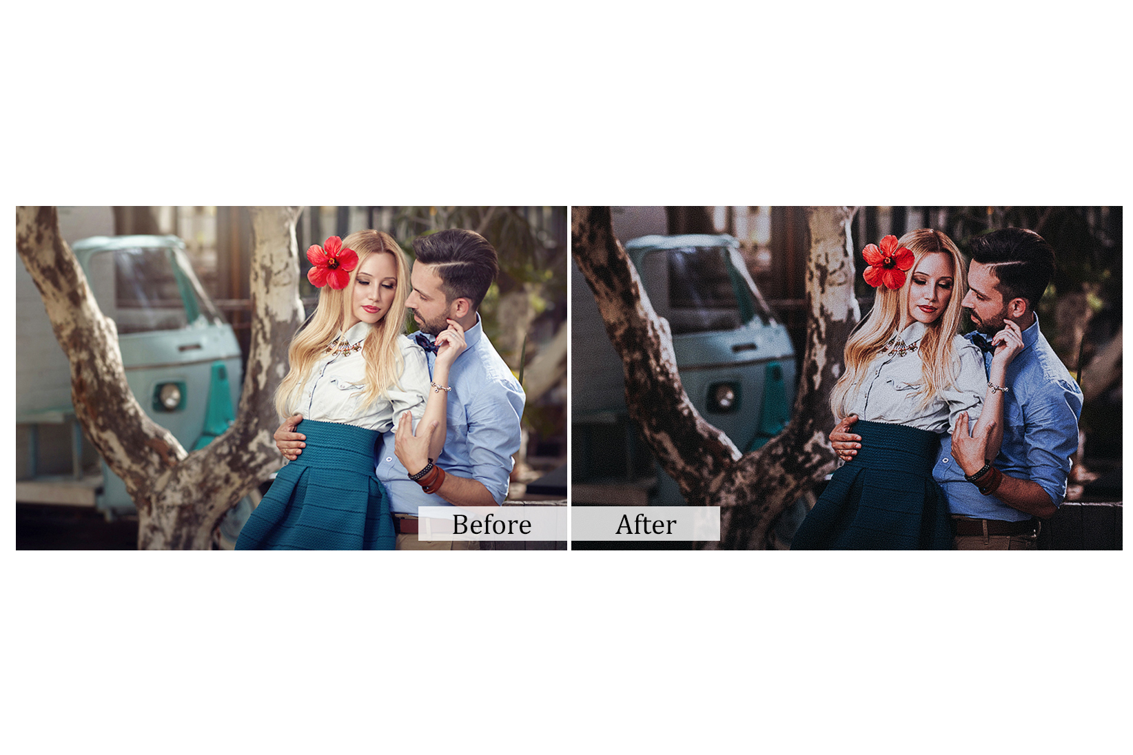 100 True Love Photoshop Actions example image 3