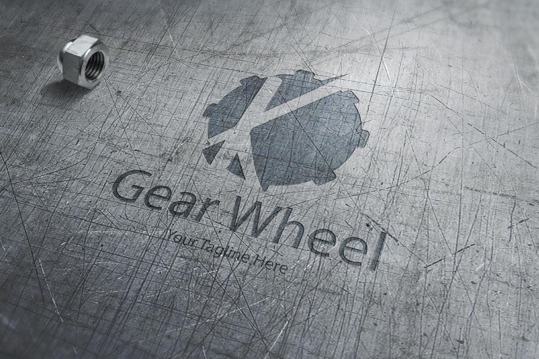 K letter gear logo example image 2